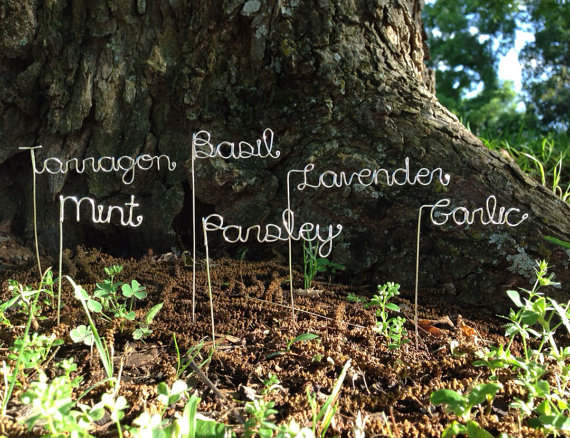 Garden Wire Markers by theFolk on Etsy.